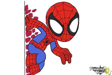 draw chibi spiderman drawingnow