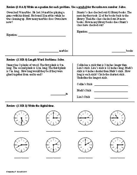 15 best images of daily math 3rd grade worksheets 2nd