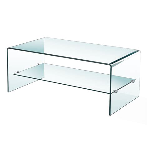 bent glass end table bent glass coffee table with shelf xcella