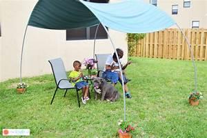 DIY PVC Canopy for Backyard Shade - The Kreative Life