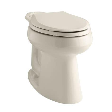 shop kohler highline almond elongated chair height toilet