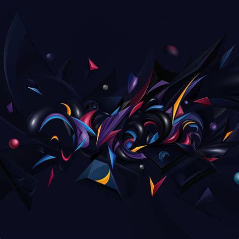 vq abstract art pattern rainbow wallpaper