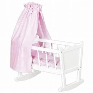 Baby Wiege Holz : pinolino 252414 puppenwiege merle wei puppenbett bauen pinterest puppen puppenwiege ~ Frokenaadalensverden.com Haus und Dekorationen