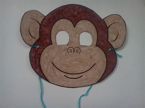 weekly craft monkey mask