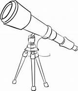Telescope Clipart Telescopes Clip Astronomy Outline Pirate Orbit Template Royalty Clipground Coloring Sketch Related Bw sketch template