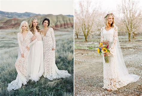 10 Beautiful Bohemian Wedding Dresses