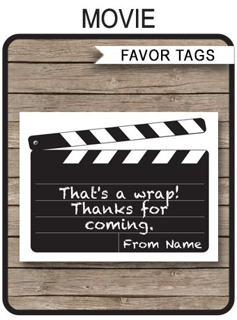 party favor tags   tags birthday party