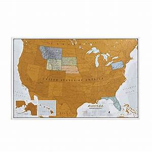 Maps International Scratch Off Map Of The US – USA Wall ...
