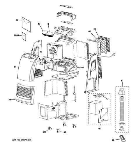 ge room air conditioner parts parts wiring diagram
