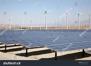 Genuine Energy Farm Hot Arid Desert Stock Photo 203643517 ...