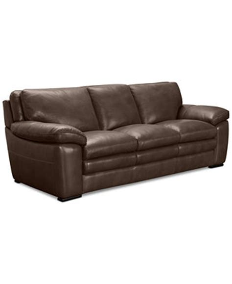 Macy S Loveseat by Corman Leather Sofa Only At Macy S Furniture Macy S