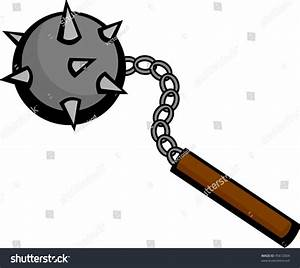 Flail Medieval Weapon Stock Vector 45612604 - Shutterstock