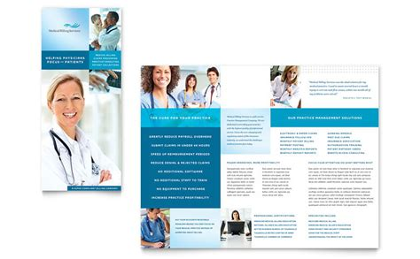 healthcare brochure templates free download medical billing coding tri fold brochure template word