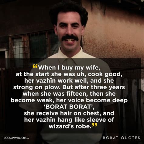 best of borat 21 outrageously offensive quotes by borat that we re all