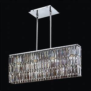 Rectangular pendant chandelier with shaped
