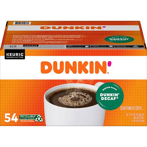It's a perfectly light roasted coffee that. Dunkin' Donuts Decaf Coffee K-Cups, Medium Roast (54 ct.) - Bigbigmart.com