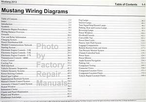 2013 Ford Mustang Electrical Wiring Diagrams Manual