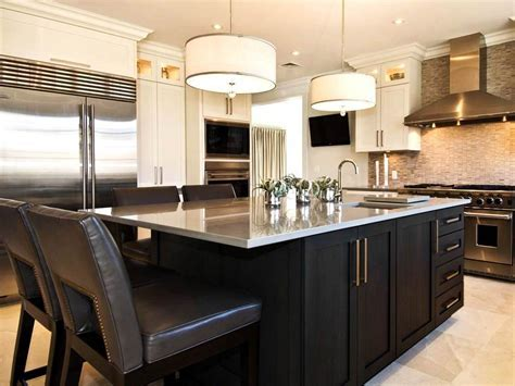 Kitchen. lowes kitchen islands with seating: black