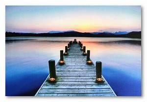 Bilder Mit Led Beleuchtung : wandbild led beleuchtet steg am meer mit lichtern kerzen bild 60 cm x 40 cm ebay ~ A.2002-acura-tl-radio.info Haus und Dekorationen