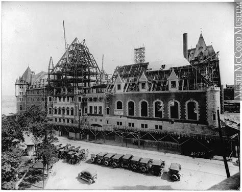 le château frontenac avant 1908 vues anciennes de québec