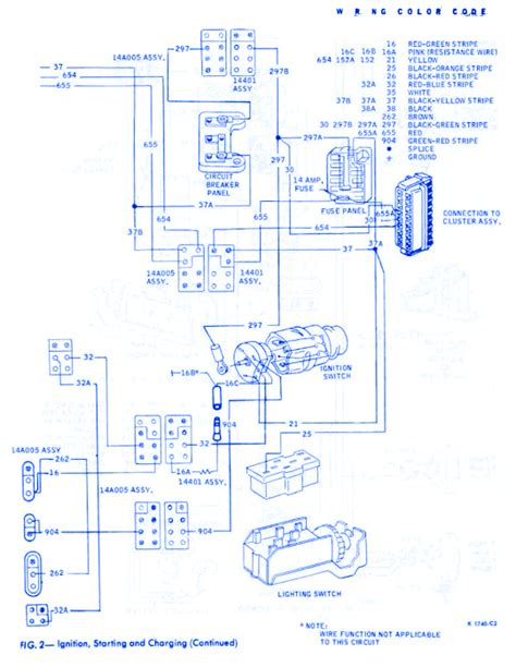 Ford Thunderbird General Electrical Circuit Wiring