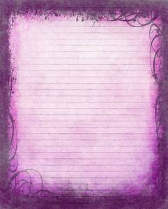 Printable Journal Page  Instant Download  Purple Digital Stationery  Digital Lined Writing Paper