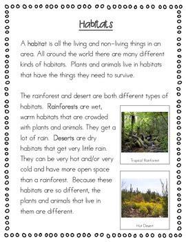 animal habitat worksheets for 2nd grade the best