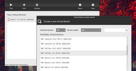 android emulator for ubuntu android x86 emulator genymotion 2 0 released web upd8