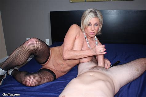 sexy milf payton hall gives a handjob in stockings 2 of 2