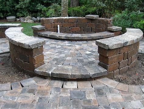 Paver Brick Wall by Hardscape Package 4 Brick Paver Patio Pergola Firepit