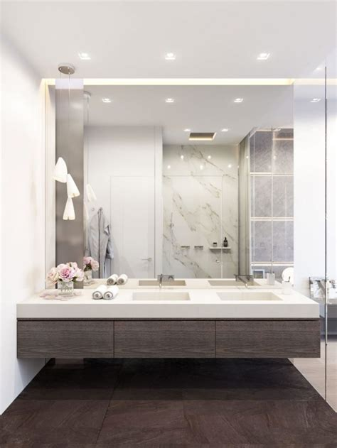 Modern Bathroom Mirror by 30 Cool Ideas To Use Big Mirrors In Your Bathroom Digsdigs