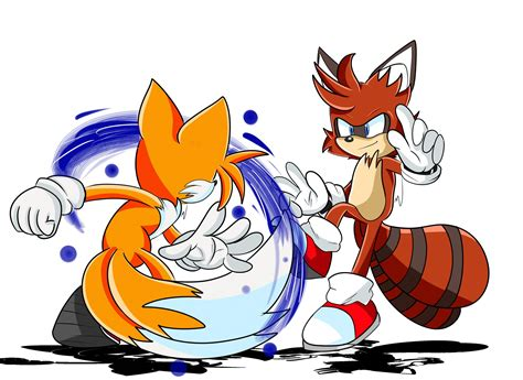 Miles Tails Prower Vs Turbo Tanuki By Thedragonsuperfan On