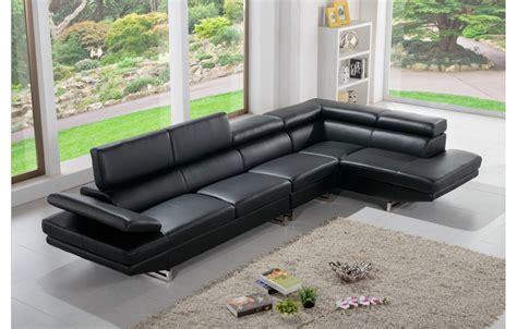 canapé cuir 5 places canapé tendance en cuir noir 5 places teck in home