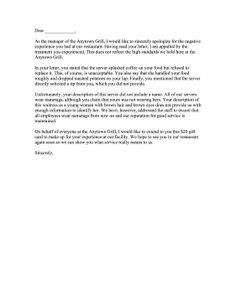 Complaint Letter for Poor Service | Sample Complaint