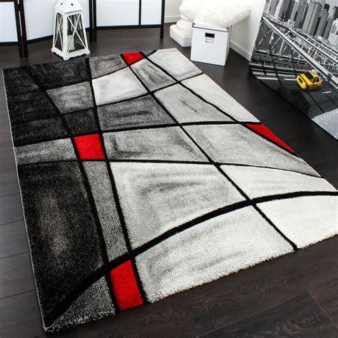 tapis moderne carreaux gris rouge liquidation tapis