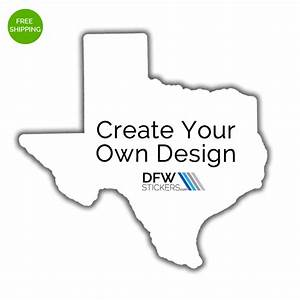 create your own texas pride sticker dfw stickers With create sticker labels