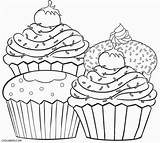 Coloring Cupcake Pages Print sketch template