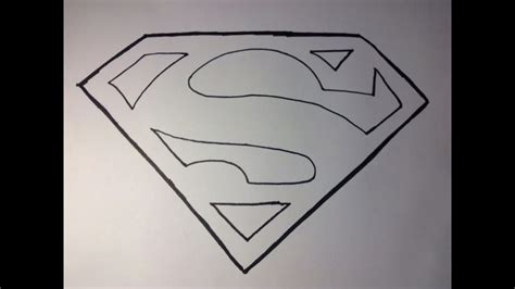 draw supermans logo youtube