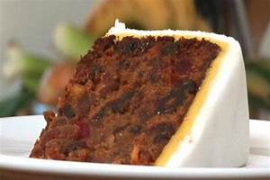 rich traditional fruit cake with fondant and marzipan