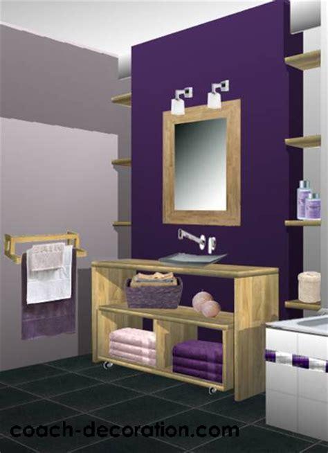 si鑒e de salle de bain déco salle de bain prune déco sphair