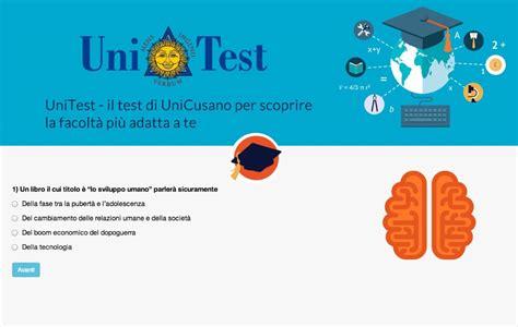 Test Per Scegliere Università by Orientamento Universitario Arriva Unitest Il Test Social