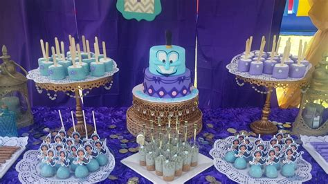 disneys princess jasmine birthday dessert table youtube