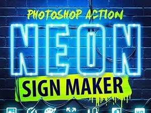 Neon Sign Maker shop Action