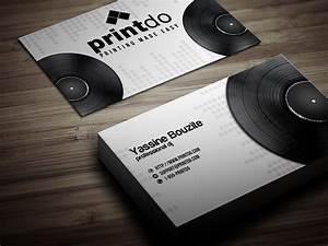 Dj business cards printdocom for Business cards for djs
