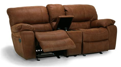 double recliner sofa with console flexsteel latitudes grandview double power reclining