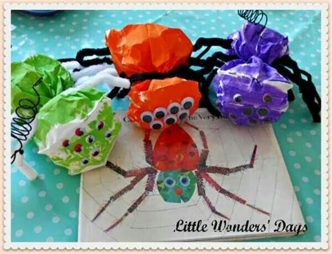 busy spider  images halloween crafts