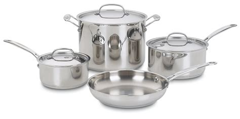 cuisinart chefs classic pc stainless steel cookware set cu  police credit union