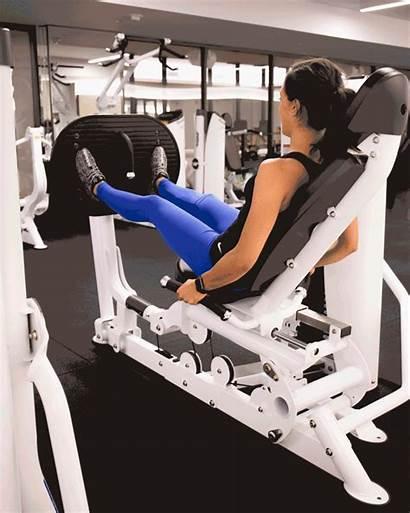 Gym Machines Leg Fitness Press Using Machine