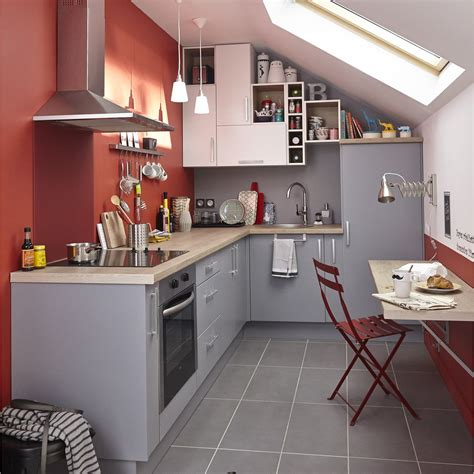 meubles cuisine gris meuble de cuisine gris delinia délice leroy merlin