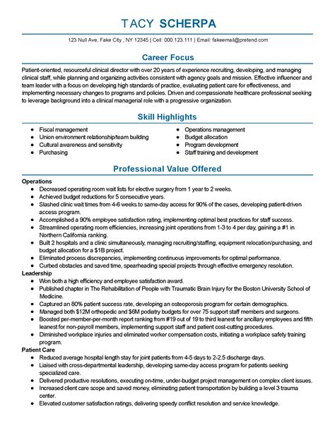 clinical resumes professional clinical director templates to showcase your